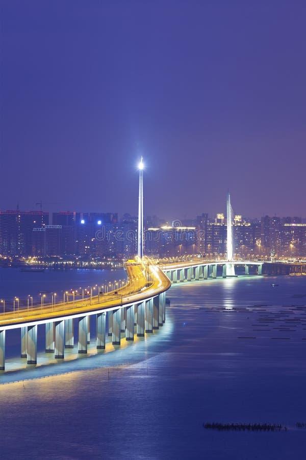 Ponte ocidental do corredor de Hong Kong Shenzhen fotografia de stock