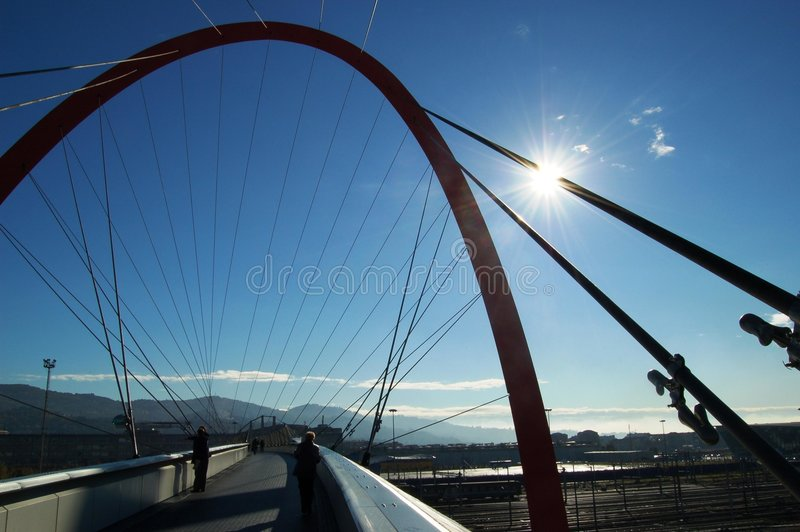 Ponte olímpica, Turin, Italy foto de stock royalty free