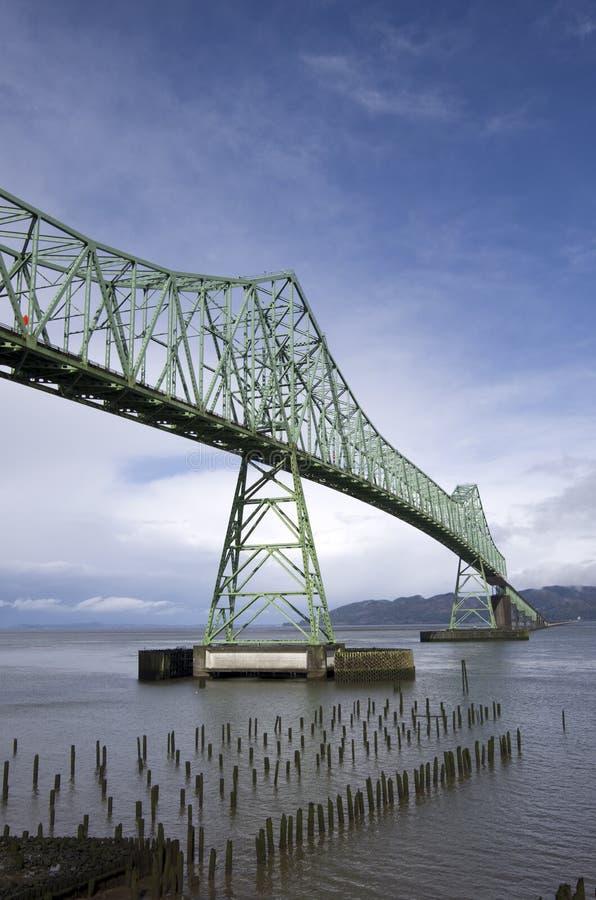 Ponte Oregon de Astoria Megler fotografia de stock royalty free