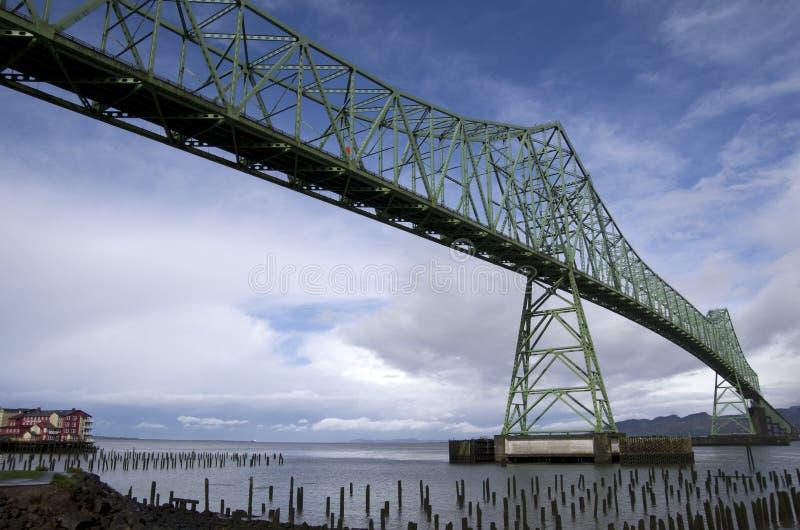 Ponte Oregon di Astoria Megler immagini stock