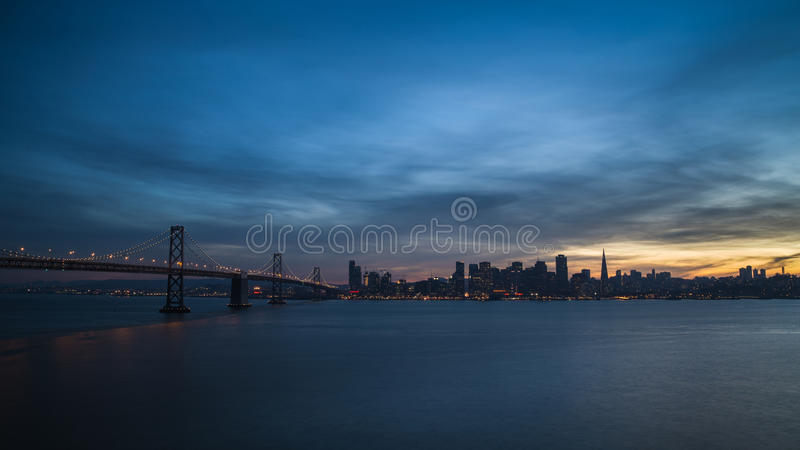 Ponte orientale della baia fotografia stock