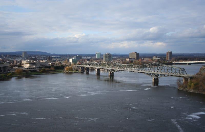 Ponte Ottawa de Alexandra imagens de stock