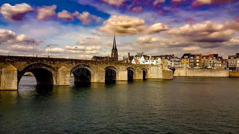Ponte Paesi Bassi di Maastricht fotografia stock