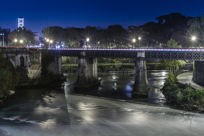 Ponte Palatino en Roma fotografía de archivo libre de regalías
