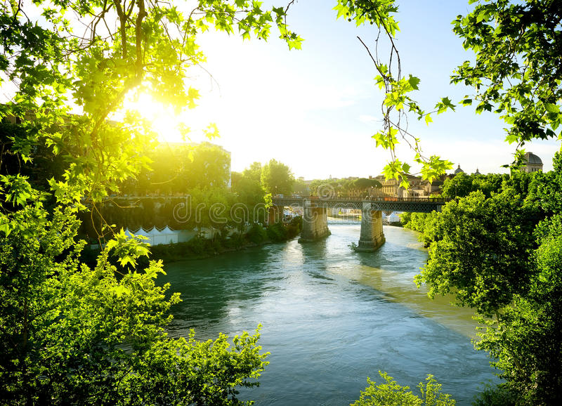 Ponte Palatino, Italien lizenzfreie stockfotos
