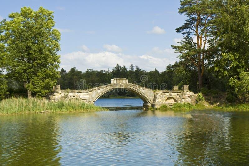 Parco in Gatcina, ponte immagine stock libera da diritti