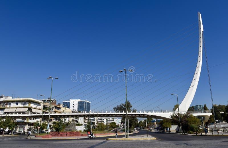 Ponte pedestre de Katehaki imagem de stock royalty free