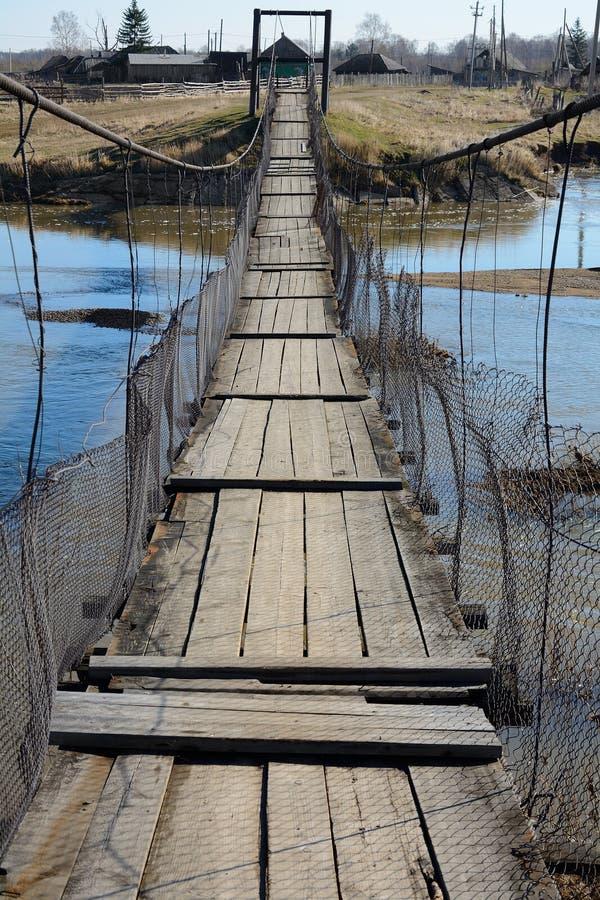A ponte pedestre suspendida fotos de stock