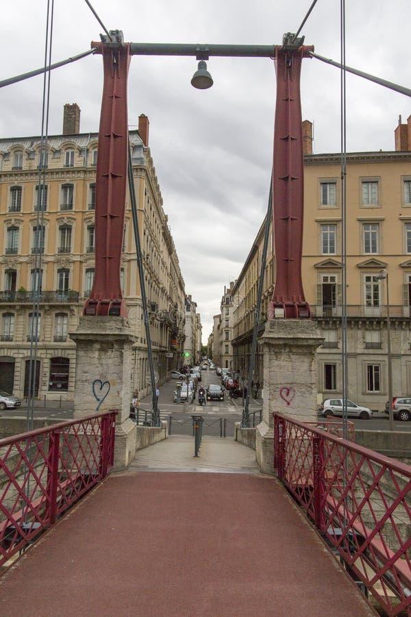 Ponte pedonale Lione, Francia di Georges del san fotografia stock