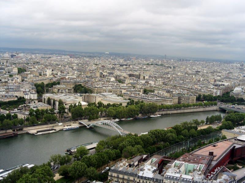 Ponte pedonale Passerelle Debilly a Parigi, Francia fotografia stock