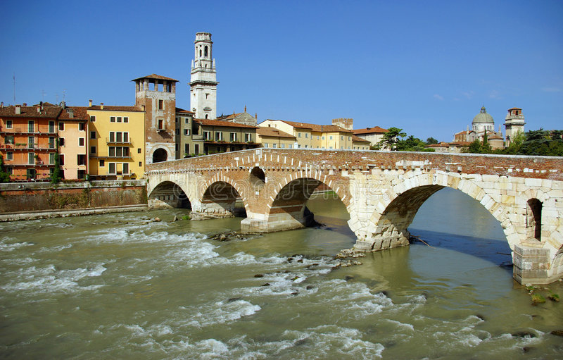 Download Ponte Pietra - Verona stock image. Image of bridge, architecture - 2896043