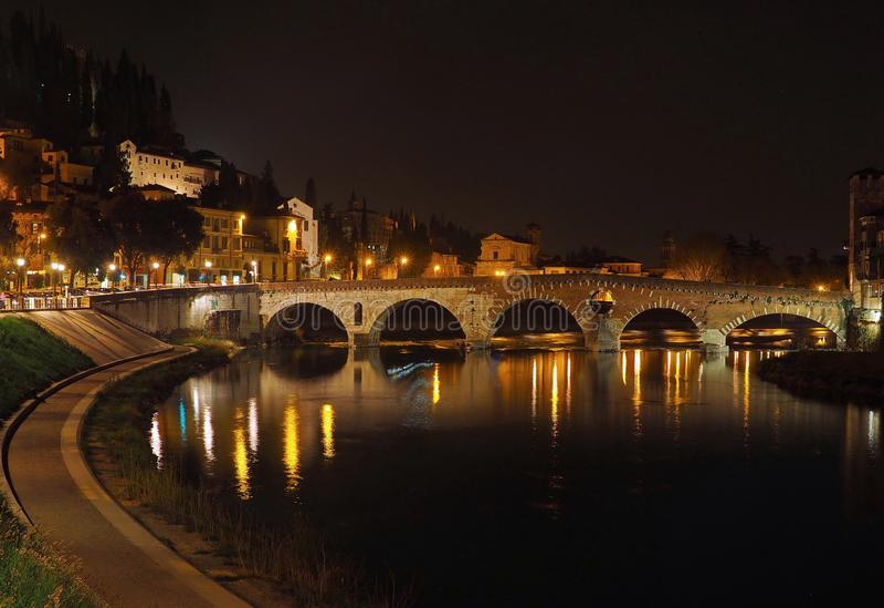 Ponte Pietra, Verona obrazy royalty free