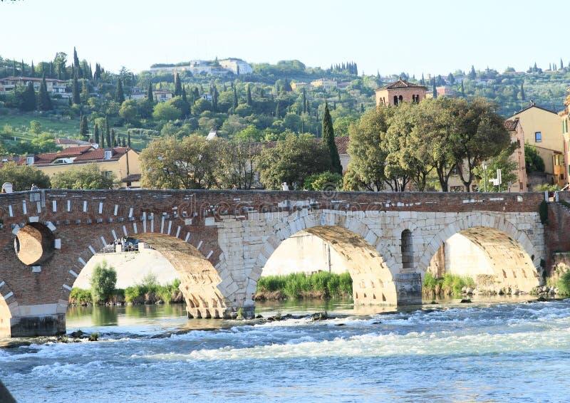 Ponte Pietra w Verona zdjęcia royalty free