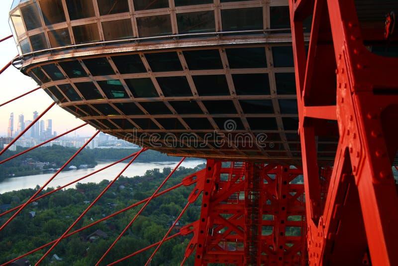 Ponte pittoresco a Mosca immagine stock