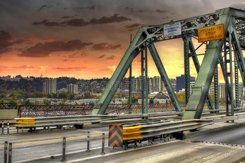 Ponte Portland Oregon de Hawthorne imagem de stock royalty free