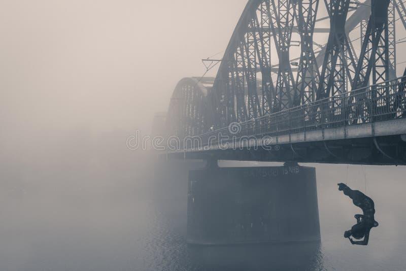 Ponte Praga do trem foto de stock