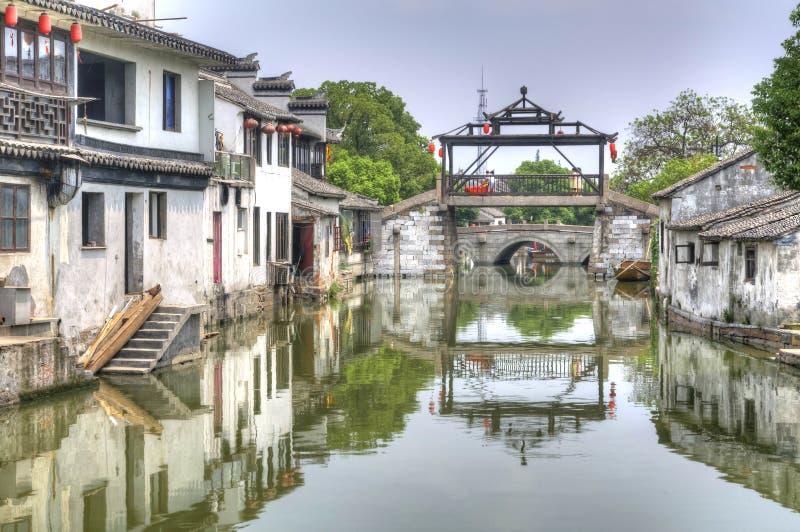 A ponte principal de Tongli, China foto de stock