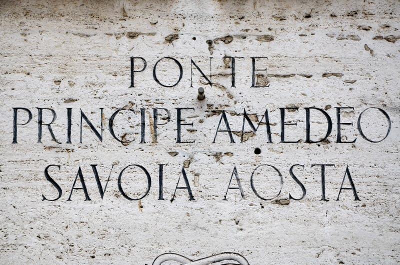 Ponte Principe Amedeo Savoia Aosta à Rome image stock