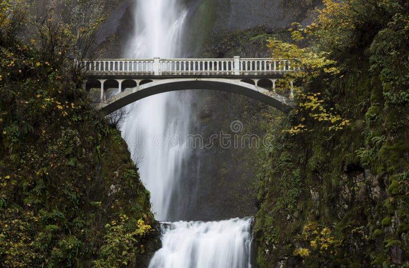 Ponte, quedas de Multnomah fotos de stock royalty free
