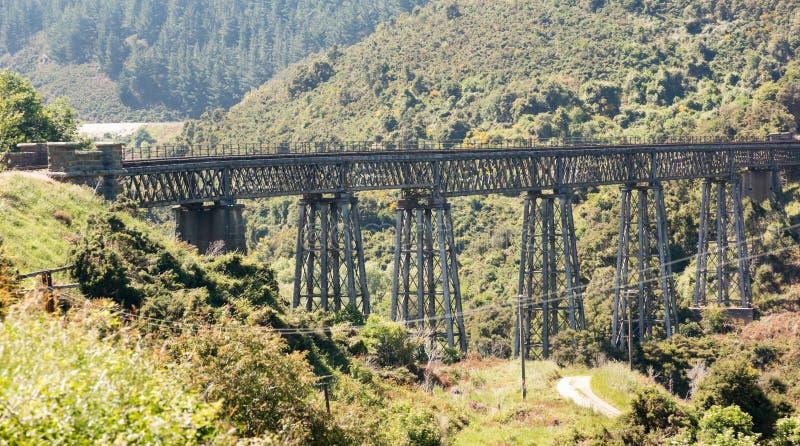 Ponte Railway acima do desfiladeiro Nova Zelândia de Taieri imagens de stock