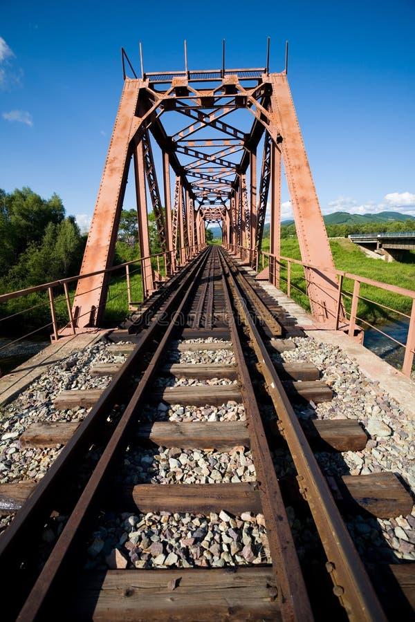 Ponte railway velha imagem de stock