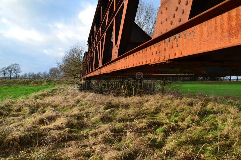 Ponte railway velha imagens de stock