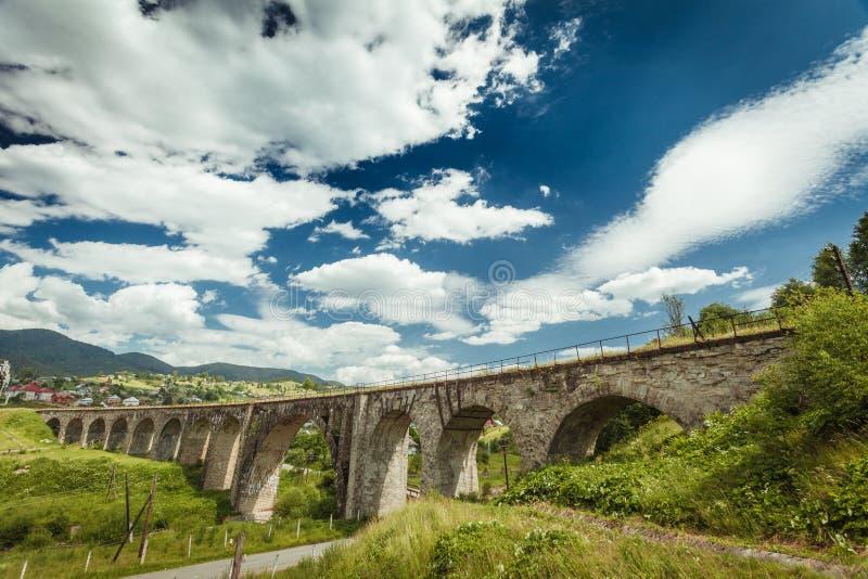 Ponte railway velha fotografia de stock