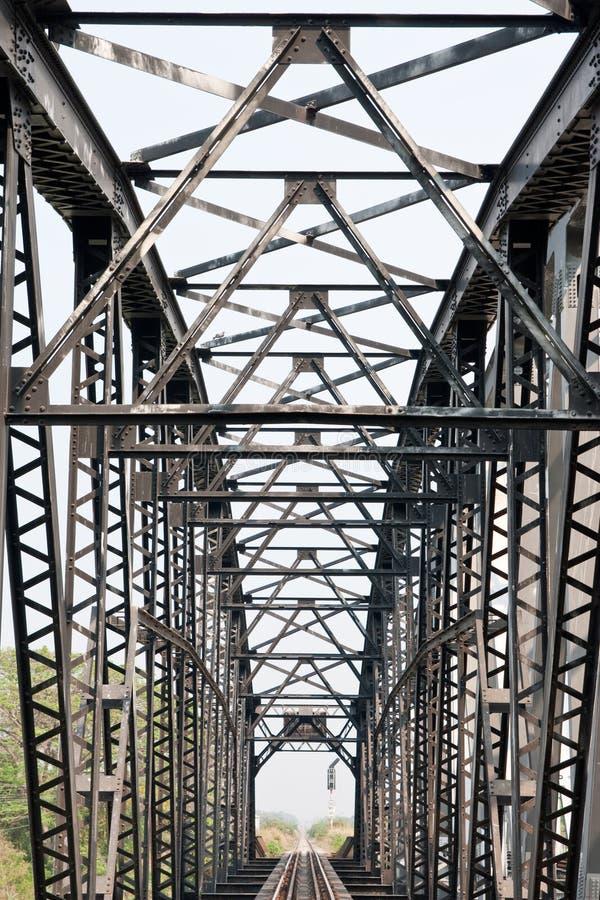 Ponte railway velha. fotografia de stock