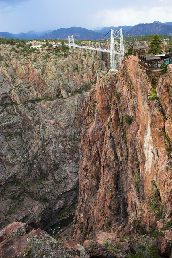 Ponte real do desfiladeiro foto de stock