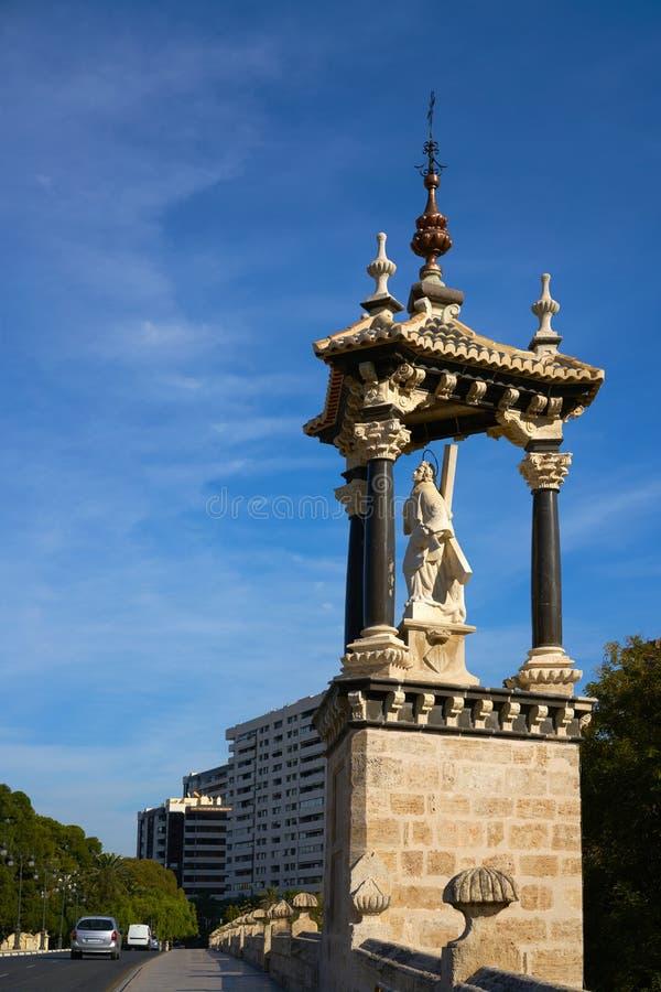 Ponte reale Spagna di del Real del puente di Valencia fotografia stock