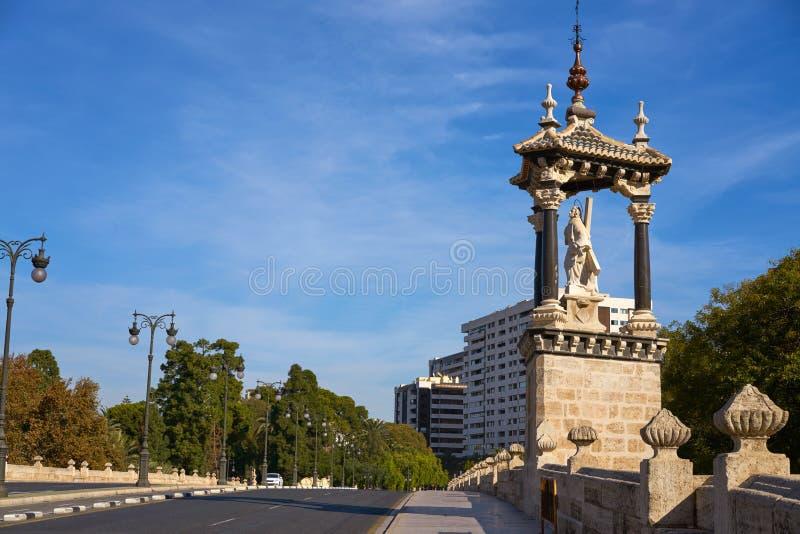 Ponte reale Spagna di del Real del puente di Valencia immagini stock libere da diritti