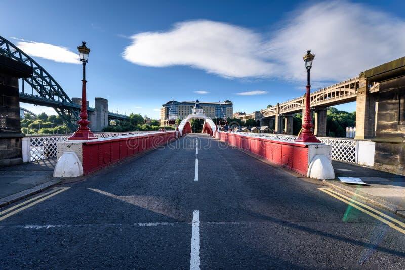 Ponte Regno Unito di Newcastle fotografie stock libere da diritti