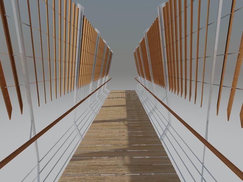 A ponte rendeu a perspectiva fotografia de stock