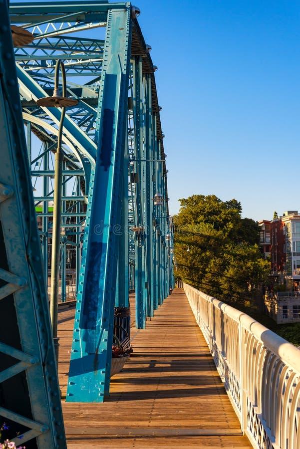 Ponte restaurada de Chattanooga imagem de stock