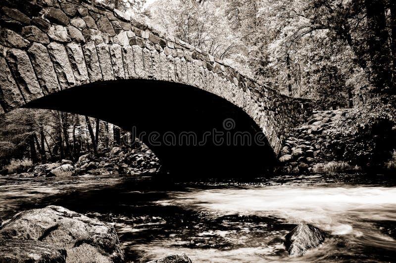 Ponte, rio de Merced, Yosemite fotos de stock royalty free