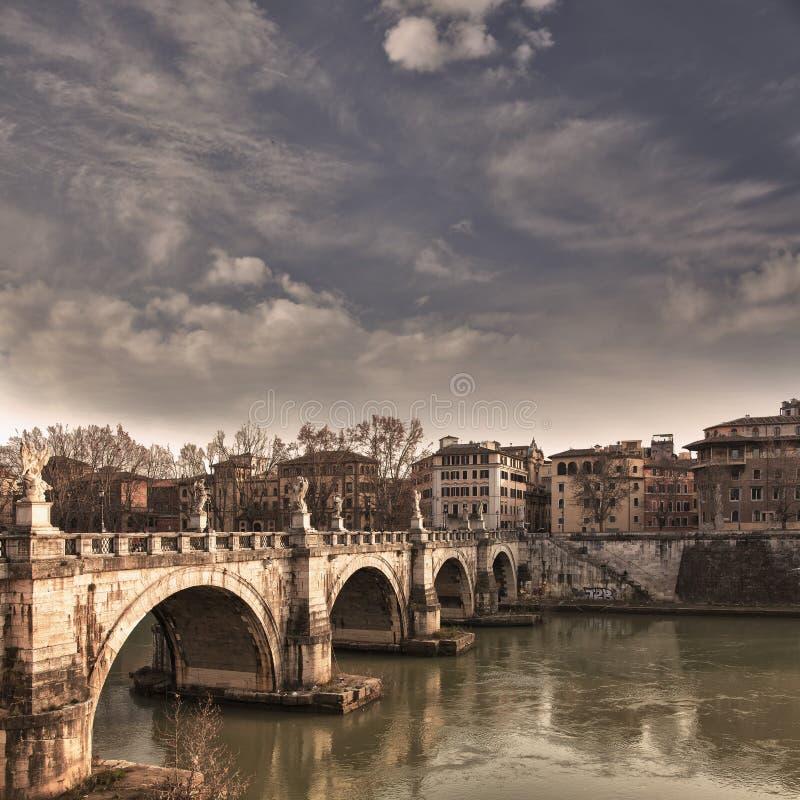 Ponte Roma di Angelo del san immagine stock