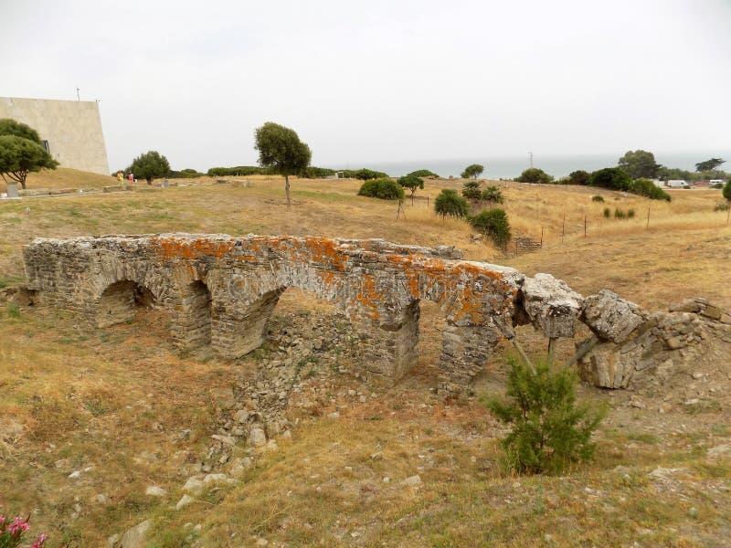 ponte romano in Bolonia-Cadice-Andalusia-Spagna fotografia stock