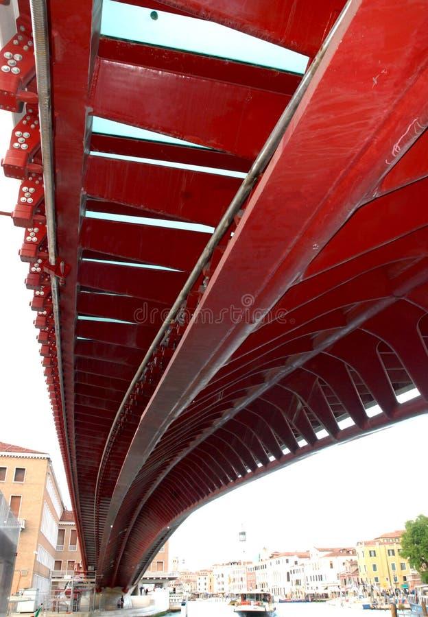 Ponte rosso a Venezia fotografia stock