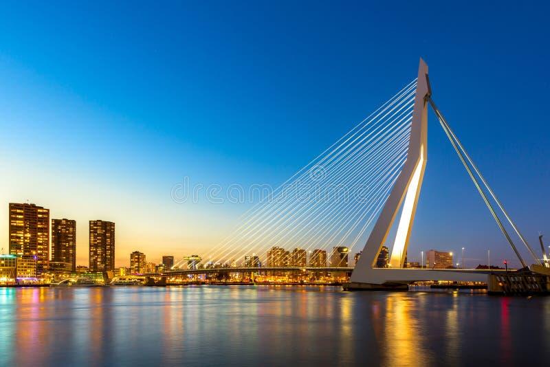 Ponte Rotterdam do Erasmus fotos de stock