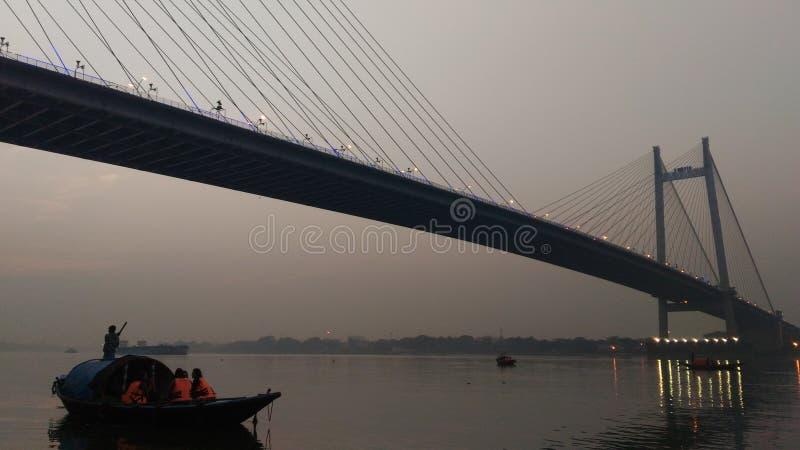 Ponte sagar de Vidya, Kolkata imagem de stock
