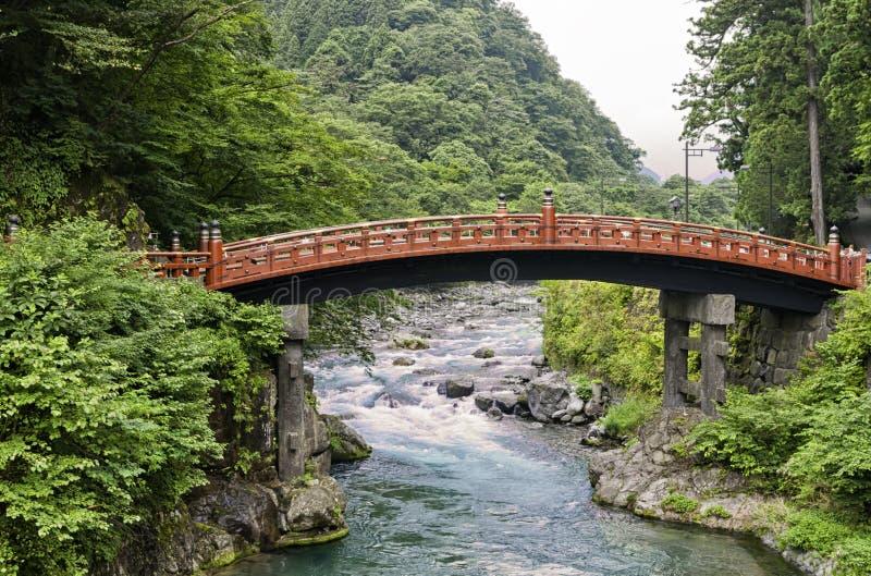 Ponte sagrado histórica de Shinkyo, Japão foto de stock royalty free