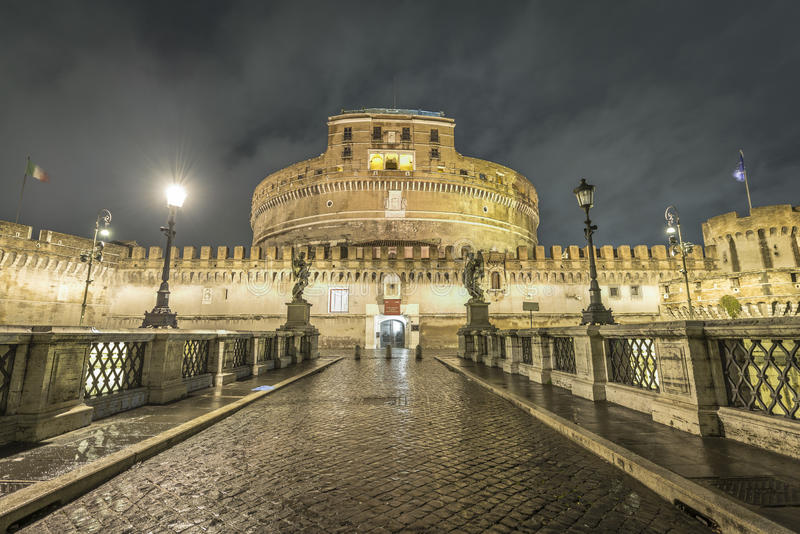 Ponte Sant Angelo, Βατικανό στοκ φωτογραφία με δικαίωμα ελεύθερης χρήσης