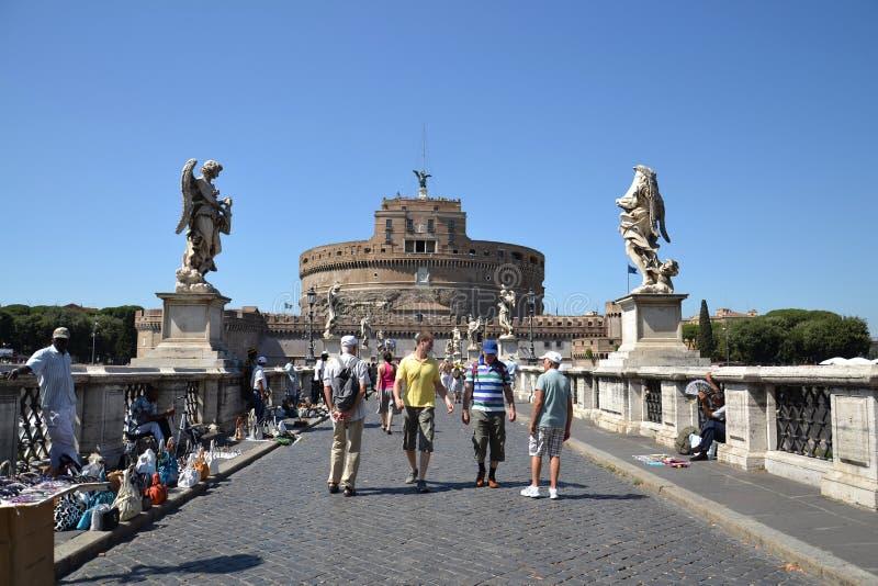 Ponte Sant Angelo lizenzfreie stockbilder