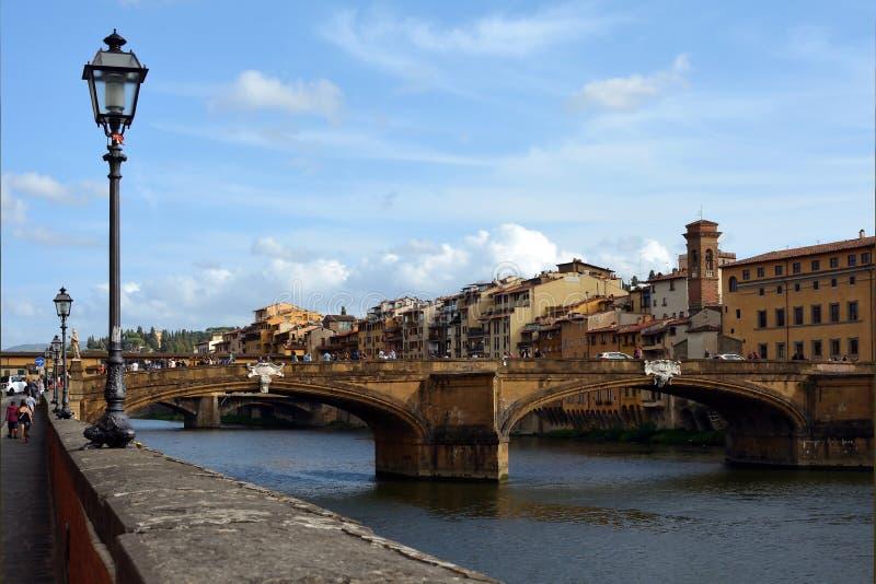 Ponte Santa Trinita Firenze - in Italia immagine stock libera da diritti