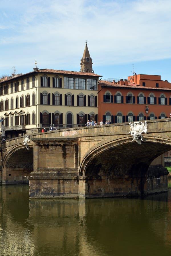 Ponte Santa Trinita Firenze - in Italia immagini stock libere da diritti