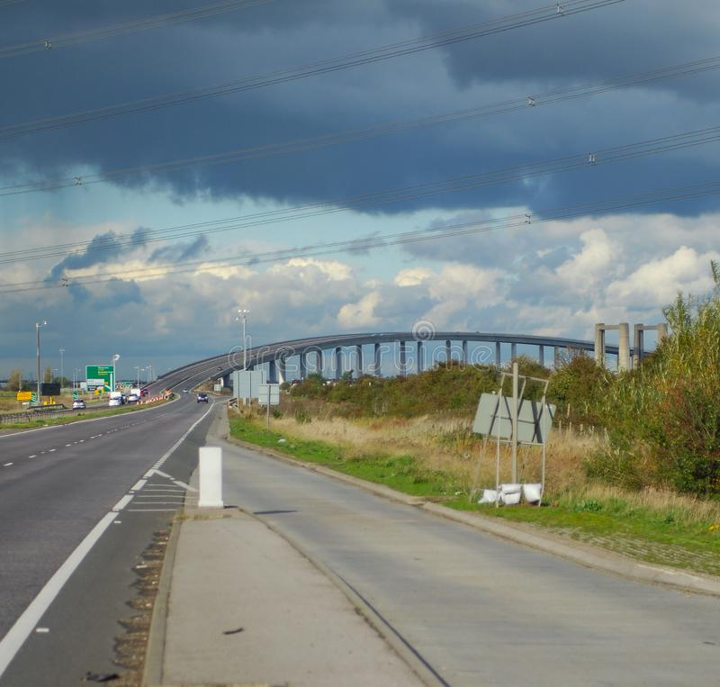 Ponte a Sheppey immagine stock