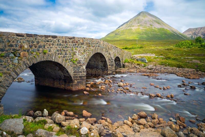Ponte a Sligachan, isola di Skye fotografia stock libera da diritti