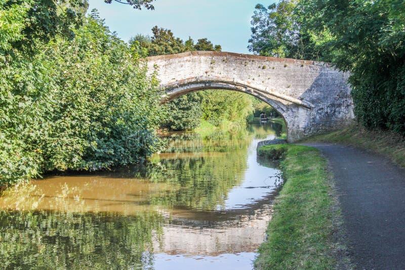 Ponte sobre o canal da união de Shropshire imagens de stock royalty free