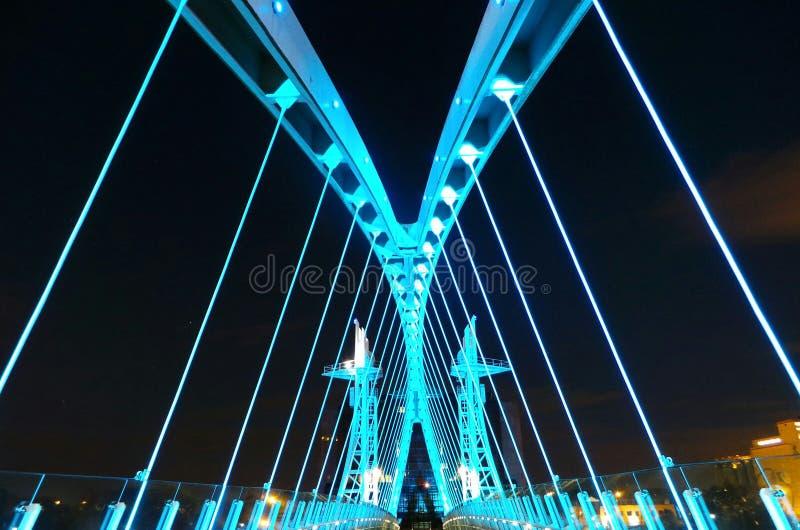 Ponte sobre o canal de navio de Manchester fotos de stock