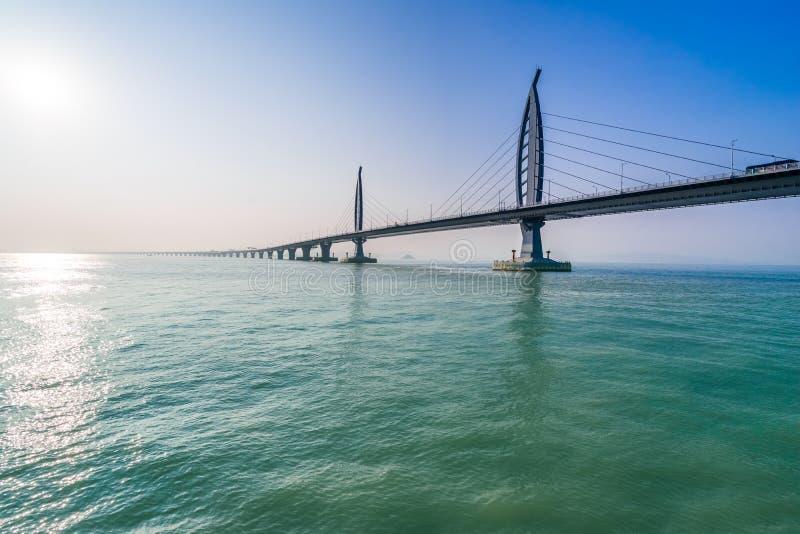 Ponte sobre o mar em Zhuhai China imagem de stock royalty free